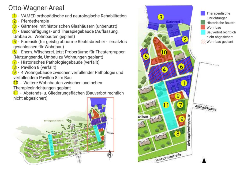 Otto Wagner Areal Verbauungsplan
